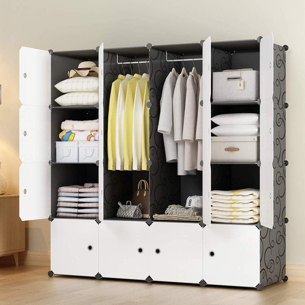 Kousi Portable Closet Organizer Small Bedroom These 50