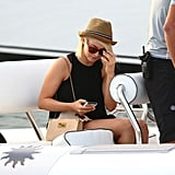 Julianne Hough was on a boat in St. Bart's.