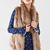 Urban Outfitters Faux Fur Collared Vest