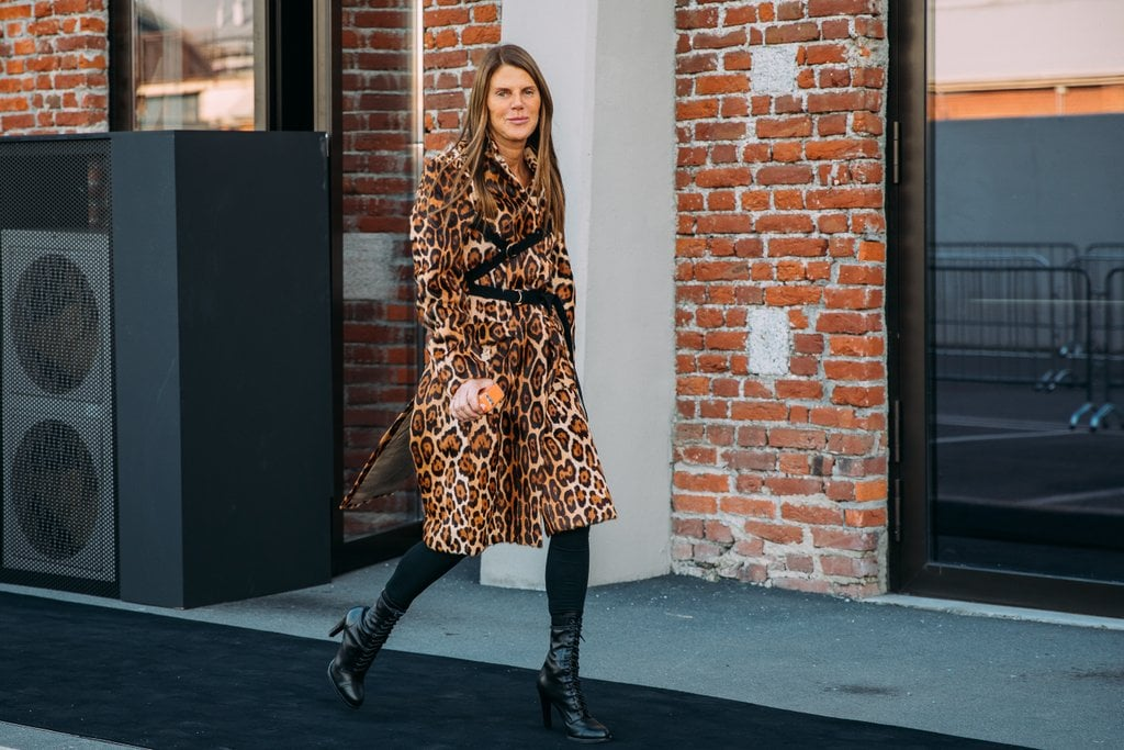 Anna Dello Russo proves there is nothing chicer than a leopard print coat.