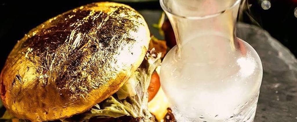 برغر مغطى بالذهب عيار 24 قيراط من مطعم ميزون روج بدبي