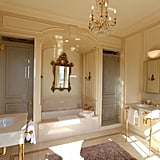 One of the condo's four decadent bathrooms, complete with double sinks and a soaking tub.