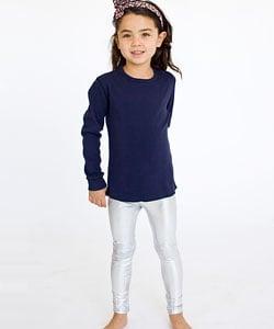 Kids Shiny Silver Lame Legging ($25)
