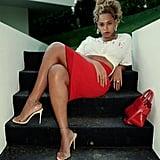 Beyonce Wearing Clear Heels