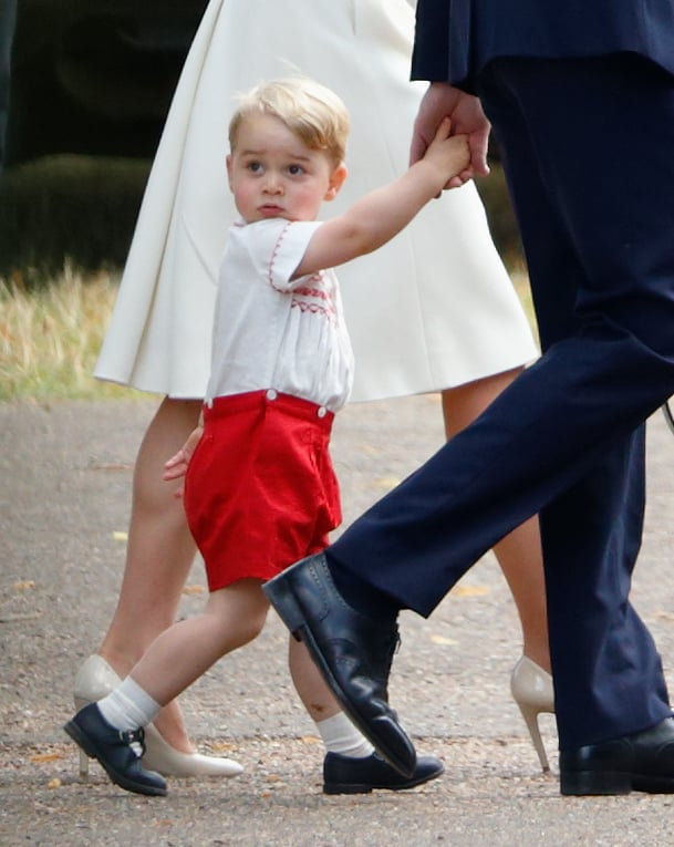 Um Excuse Me Why Don T You Try Wearing Them Prince George Funny Pictures From Charlotte S Christening Popsugar Celebrity Australia Photo 3