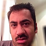 Kal Penn shared a series of hilarious selfies before shaving off his mustache, but this one was our personal favorite. Source: Twitter user kalpenn