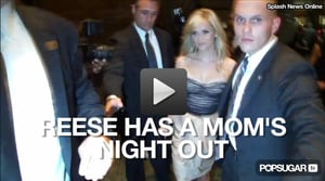 Video of Reese Witherspoon in a Strapless Dress in New York City
