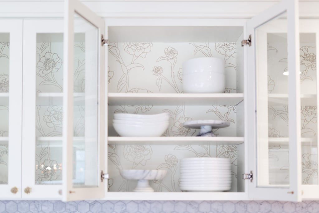After: Kitchen Cabinet Peonies
