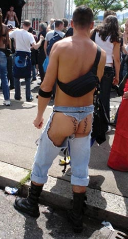 Man Wears Fanny Pack and Ass-less Chaps