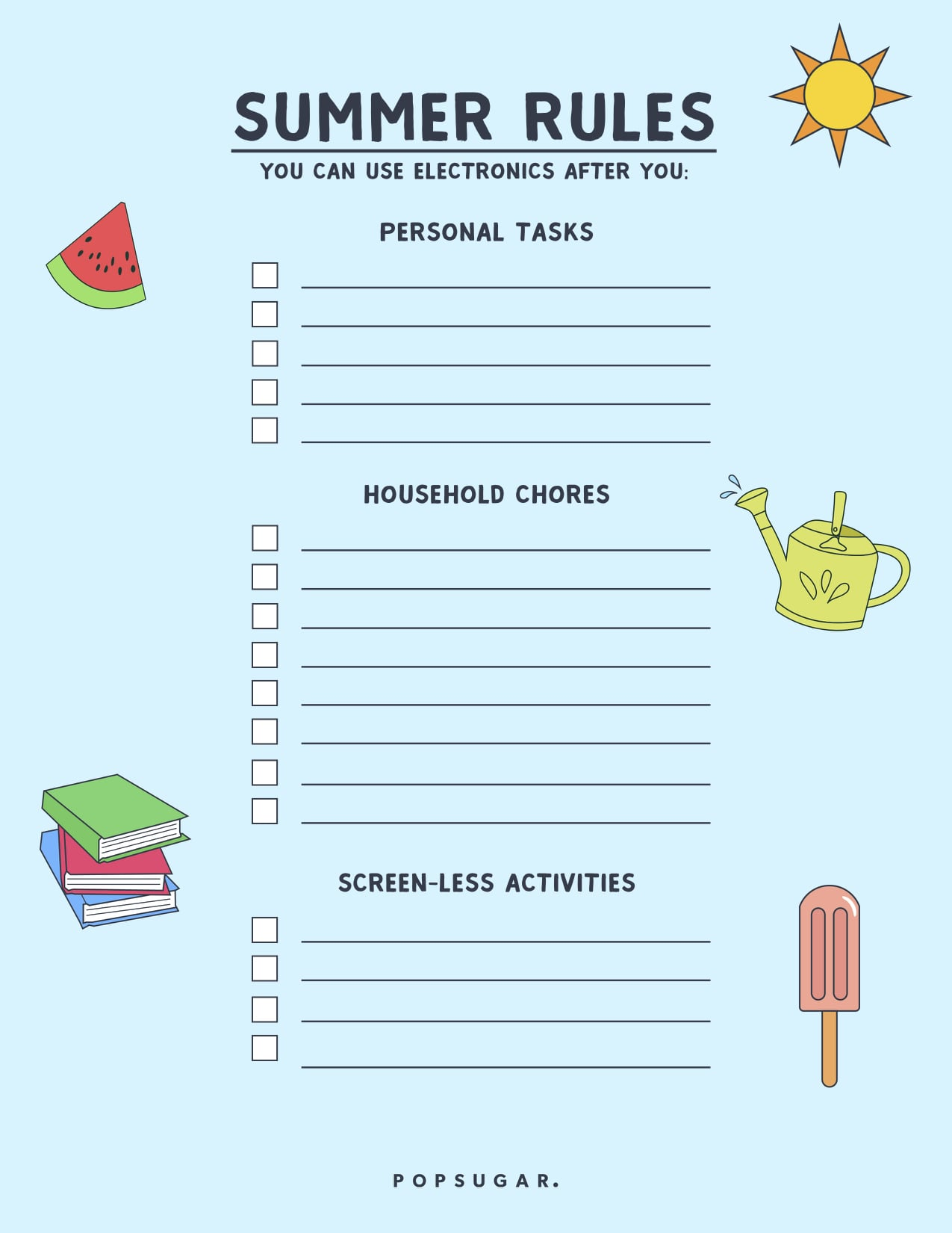 Screen Time Summer Rules For Kids Popsugar Family
