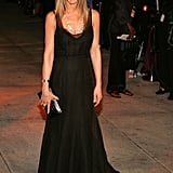 In 2006, Jennifer Aniston wore a Rochas gown to celebrate post-Oscars at Vanity Fair's annual bash.