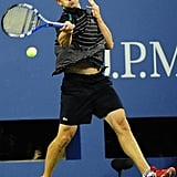 Andy Roddick beat Michael Russell in a rigorous match that lasted more than three hours.