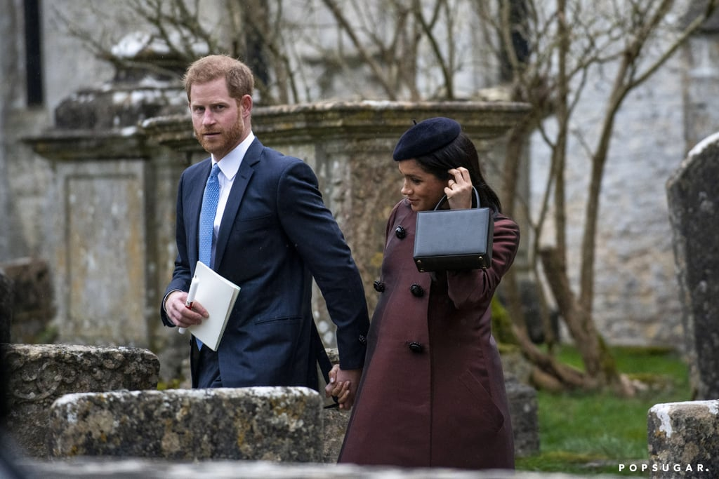 Prince Harry and Meghan Markle joined a small group of royals at the private christening of Mike and Zara Tindall's second daughter, Lena Elizabeth Tindall, on March 17. Zara is Princess Anne's daughter, and she and her brother Peter have always been close to Harry and his older brother William, so it should come as no surprise that Harry was reportedly named godfather to Lena during the ceremony, only a few weeks before he becomes a father for real. Zara is godmother to Prince George, and though she and Mike never revealed the godparents of their 5-year-old daughter Mia, Prince William was in attendance at her christening, which may suggest he was given the honor for the couple's older child. This time around, the Duke and Duchess of Cambridge didn't attend the ceremony, which had only a handful of guests, leaving Harry and Meghan to represent their branch of the family. Queen Elizabeth II was also there to see her seventh great-grandchild baptized into the Church of England.