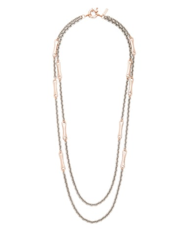This Multi Chain Bit Necklace ($90) would be great over a silky button-down or just a plain white tee.