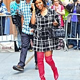 Kerry Washington Red Stuart Weitzman Boots