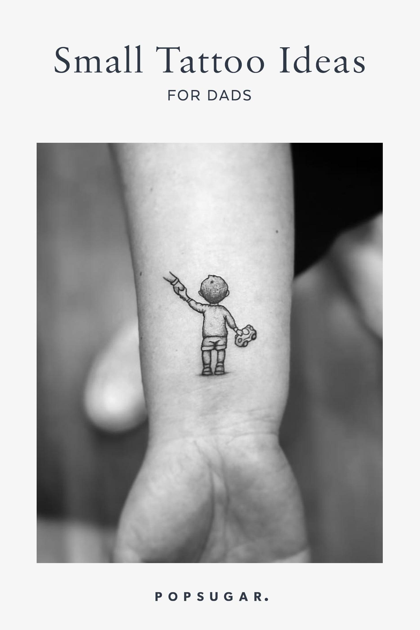 Tiny Fatherhood Tattoos Popsugar Family