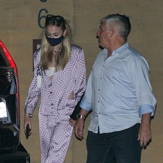 Sophie Turner's Purple Checkered Pajamas on Date Night