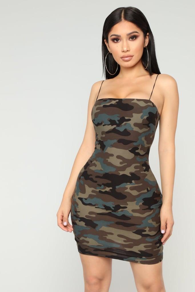 Fashion Nova In General Camo Dress