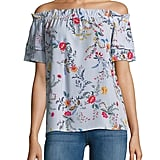Dorothy Perkins Bardot Floral Off-The-Shoulder Top