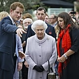 Back in 2013, Prince Harry attended the Chelsea Flower Show with his grandmother.