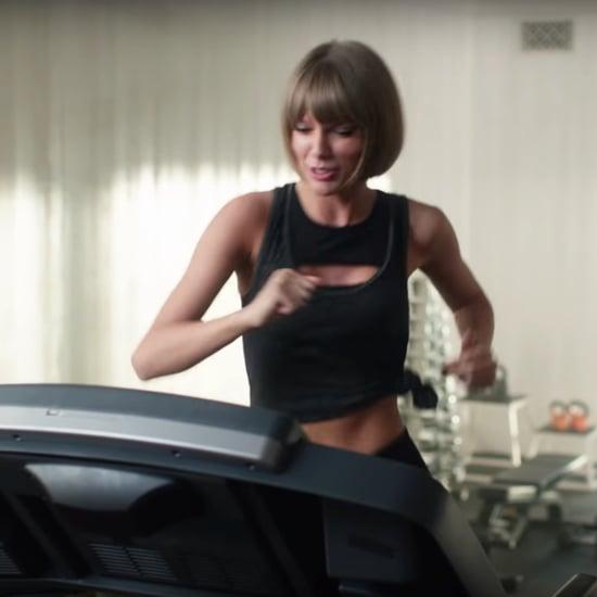Taylor Swift Falls Off Treadmill Video