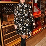She rocked a floral dress and boots at a Louis Vuitton event in 2017.