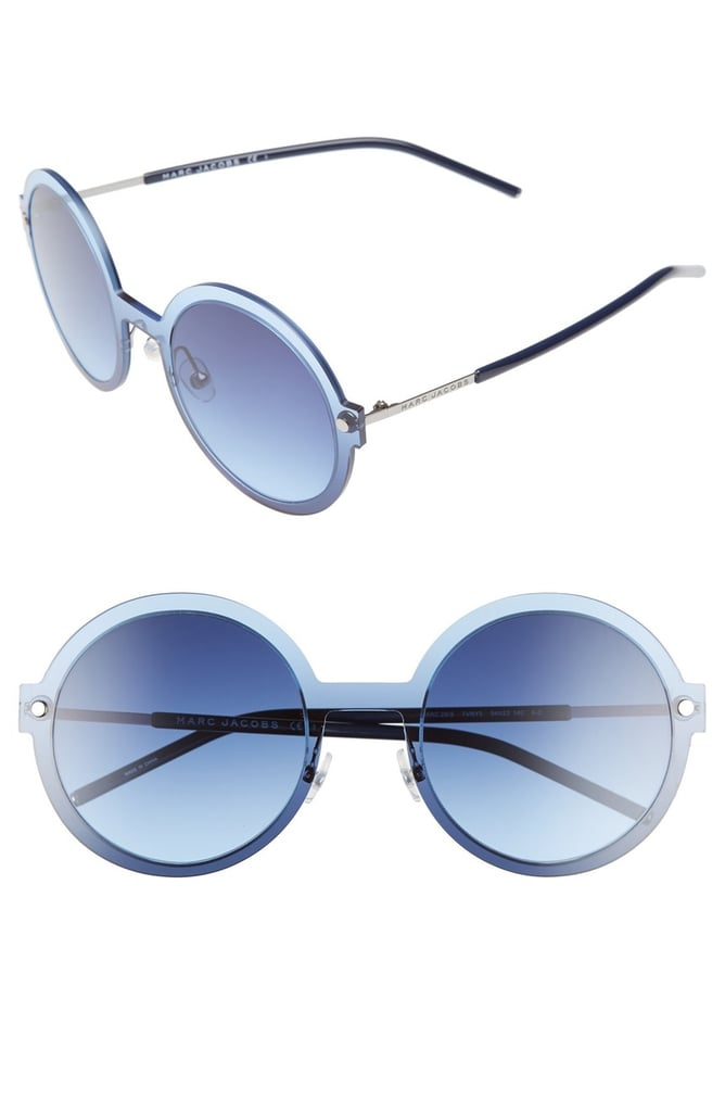 Take the trend for a test drive in these blue on blue Marc Jacobs 54mm Round Sunglasses ($170).