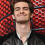 Andrew Garfield had a big smile on his face at the Berlin photocall for The Amazing Spider-Man.