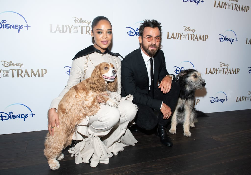 The Lady and the Tramp press tour is underway, and it essentially consists of Tessa Thompson and Justin Theroux posing with a bunch of dogs on the red carpet. (So, yes, it's amazing.) On Tuesday, the stars of the live-action remake attended a Cinema Society screening in New York City, where they were joined by their canine counterparts, Rose and rescue dog Monte. Other cast members in attendance included Yvette Nicole Brown, F. Murray Abraham, and Adrian Martinez. Though she didn't attend the screening, Janelle Monáe will also appear in the movie as Peg, a Pekingese dog. Once inside, Justin recreated that famous spaghetti scene with his own dog, Kuma, who he adopted last year. See all the adorable photos ahead.      Related:                                                                                                           9 Disney Classics Being Rebooted Into Live-Action Movies
