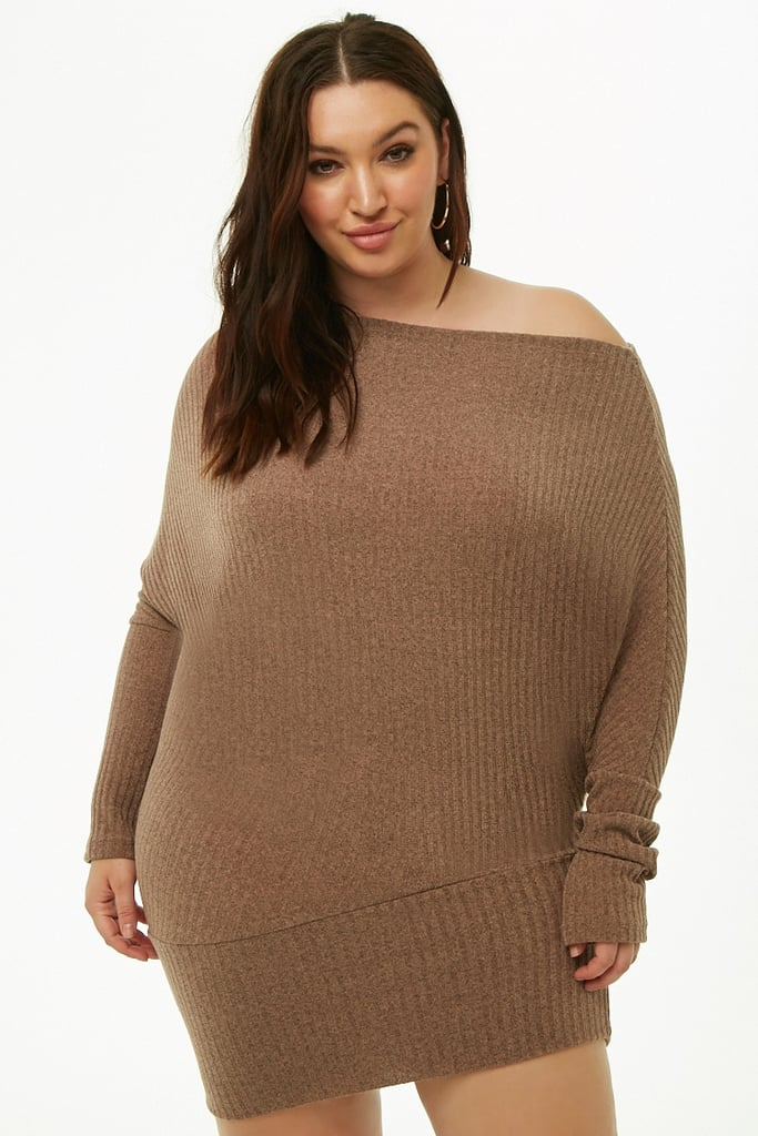 f27c7783c92 Forever 21 Plus Size Ribbed Off-The-Shoulder Dress