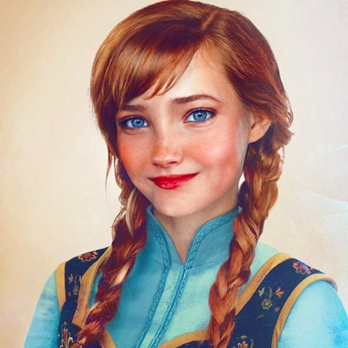 Real-Life Disney Princesses in Art