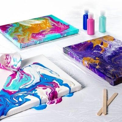 Mondo Llama Cosmically Cool Paint Pouring Kit