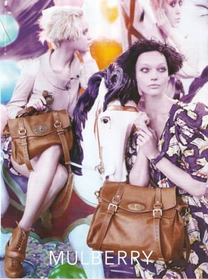 Photo of 2010 Mulberry Ad Campaing Featuring Sasha Pivovarova and Viktoriya Sasonkina