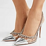 Aquazarra Temptation Crystal-Embellished Slingback Pumps