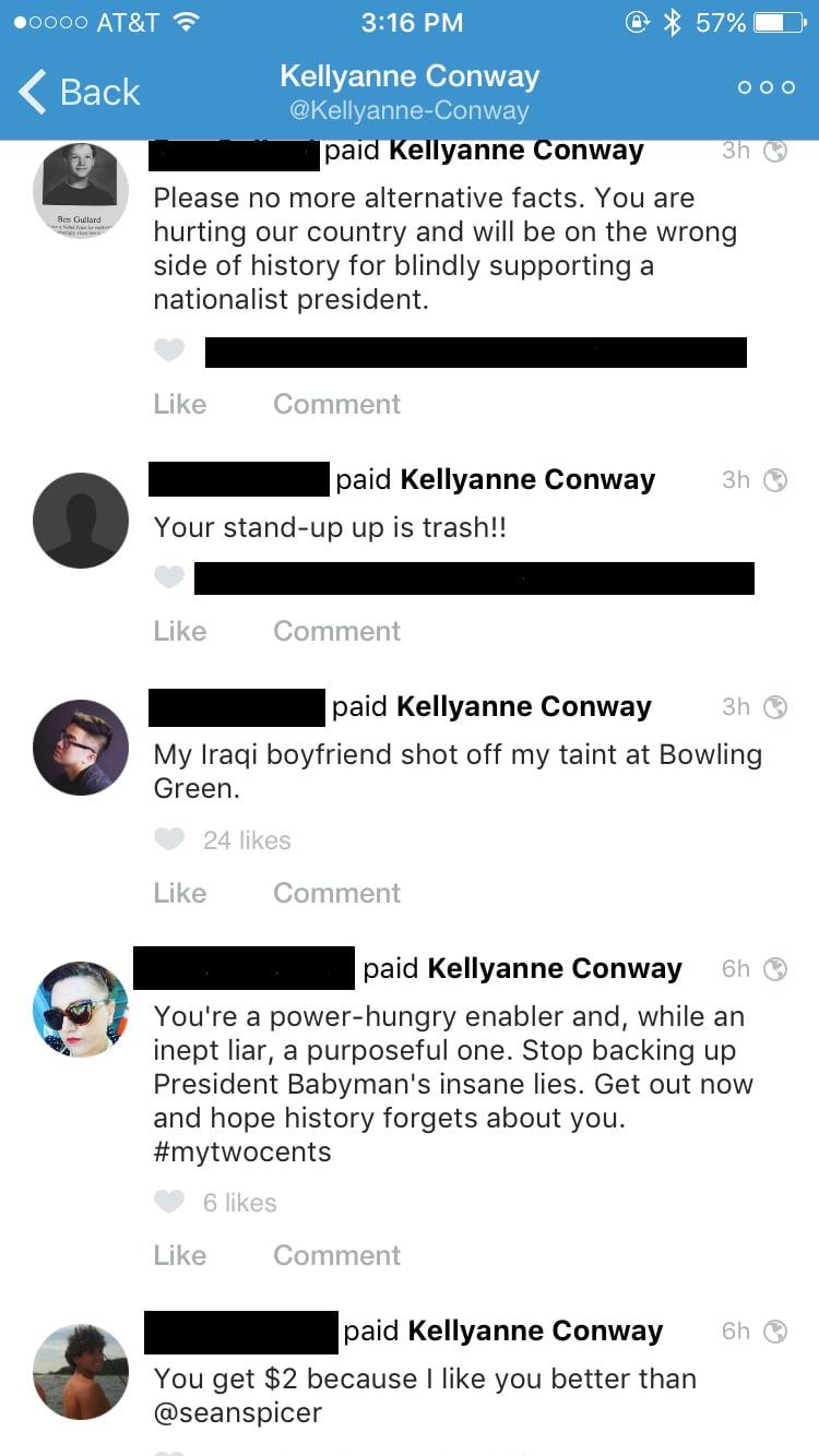 Kellyanne Conway Venmo Account | POPSUGAR Middle East Tech