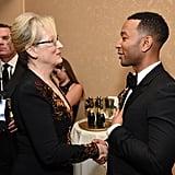 Abgebildet: John Legend and Meryl Streep