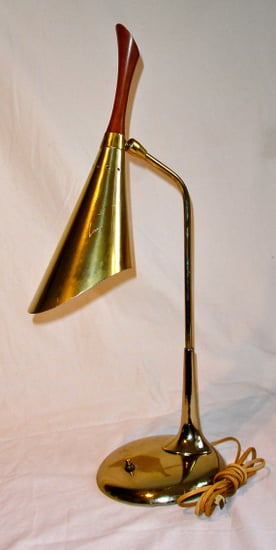 Mid Century Brass Desk Lamp, $70