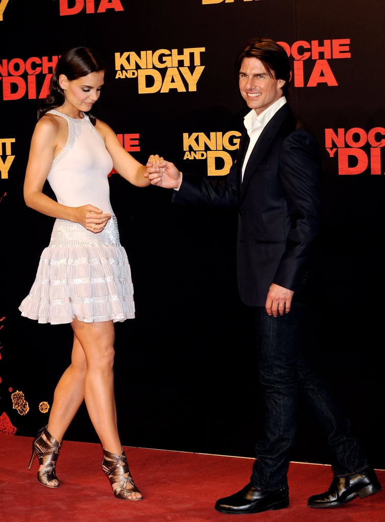 Katie Holmes wore Alaia to her hubby's movie premiere.