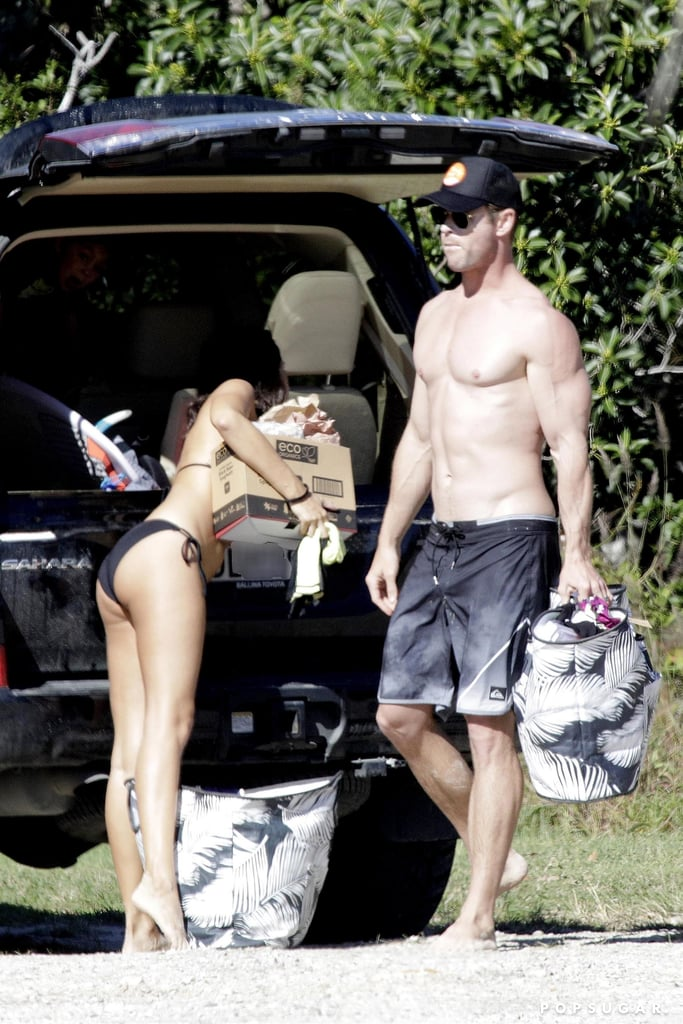 Yeah, sure, Chris Hemsworth and Matt Damon are hot and all, but guess what? They're even better together! On Thursday, the pals whipped off their shirts and enjoyed a fun beach day in Queensland, Australia. Matt was joined by his beautiful wife, Luciana, while Chris brought along some of his family. Matt kicked back with a beer and even hit the waves for a surf session, and Chris soaked up the sun on the beach with a bag of chips. Missing from the fun, though, was Chris's wife, Elsa Pataky, who's currently shooting her new Netflix series, Tidelands.  Of course, this isn't the first time we've seen Chris and Matt together this year. The longtime pals also reunited at the beach in Byron Bay, Australia, for Easter in April. OK, now how do we join this friend group?      Related:                                                                                                           21 Chris Hemsworth Shirtless Photos That Will Do Unspeakable Things to Your Body