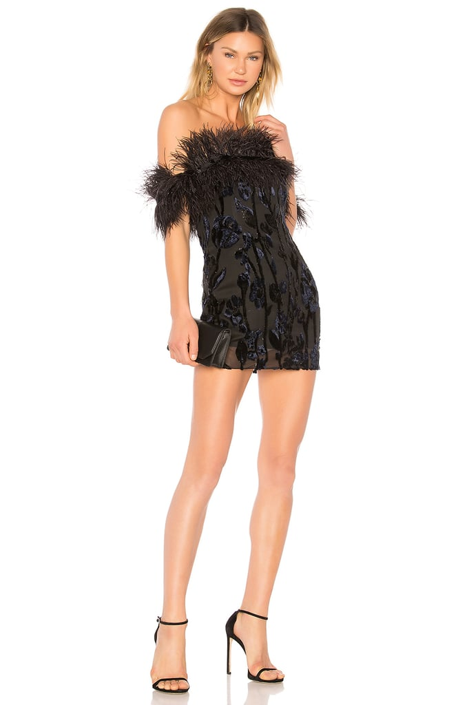 Chrissy Teigen x Revolve Feather Dress