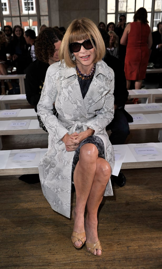 Anna Wintour took her front-row perch at Nicole Farhi.