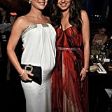 The Black Swan costars together. Natalie and Mila cuddle up.