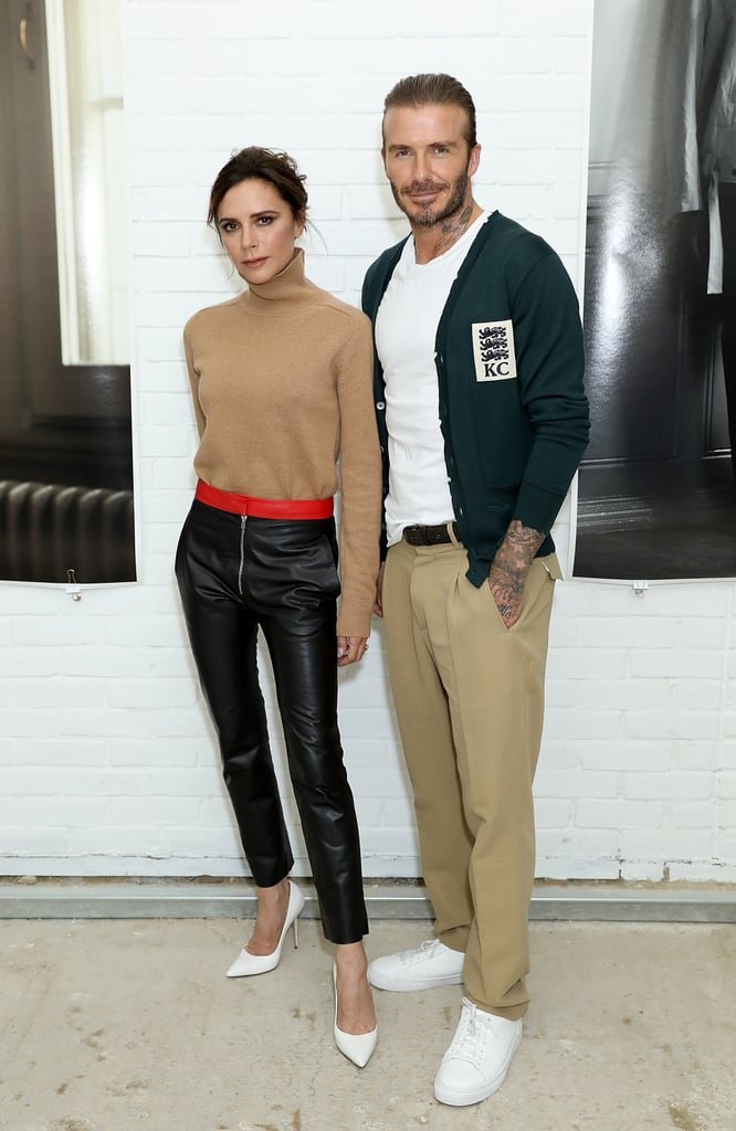 Victoria bringing back her leather look with David.
