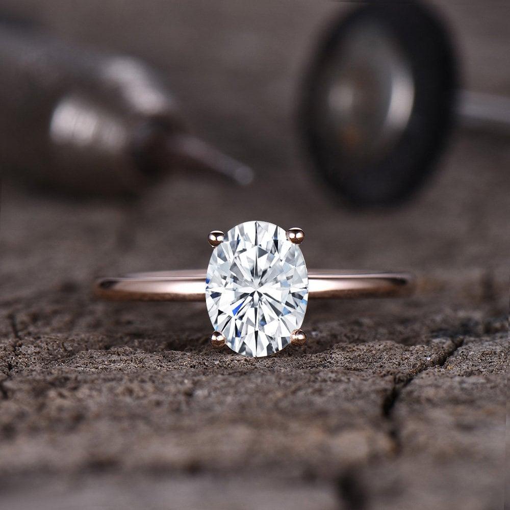 Forever One Moissanite Engagement Ring
