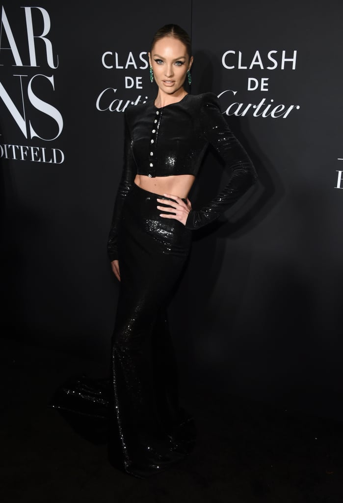 Candice Swanepoel at the Harper's Bazaar ICONS Party During New York Fashion Week