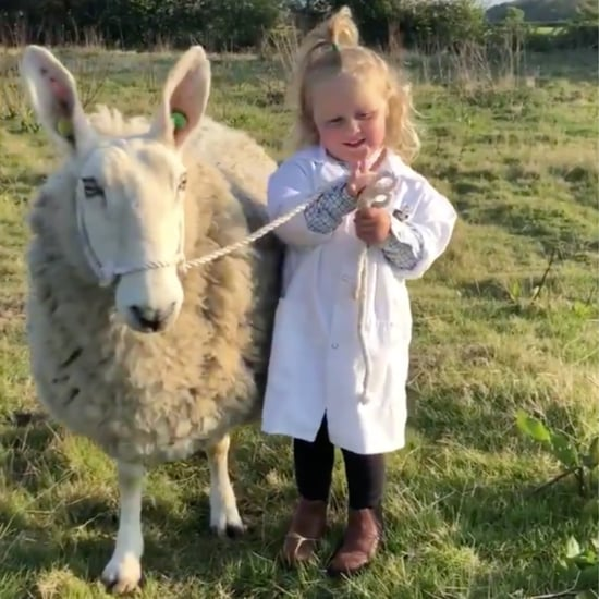 Video of Little Girl Showing Off Her Pet Sheep, Ethel