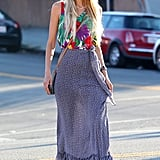 Aussie actress Isabel Lucas looked stylish as she ran errands in Los Angeles on August 26.