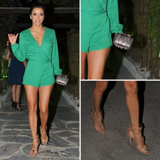 Eva Longoria in a Sexy Green Jumpsuit