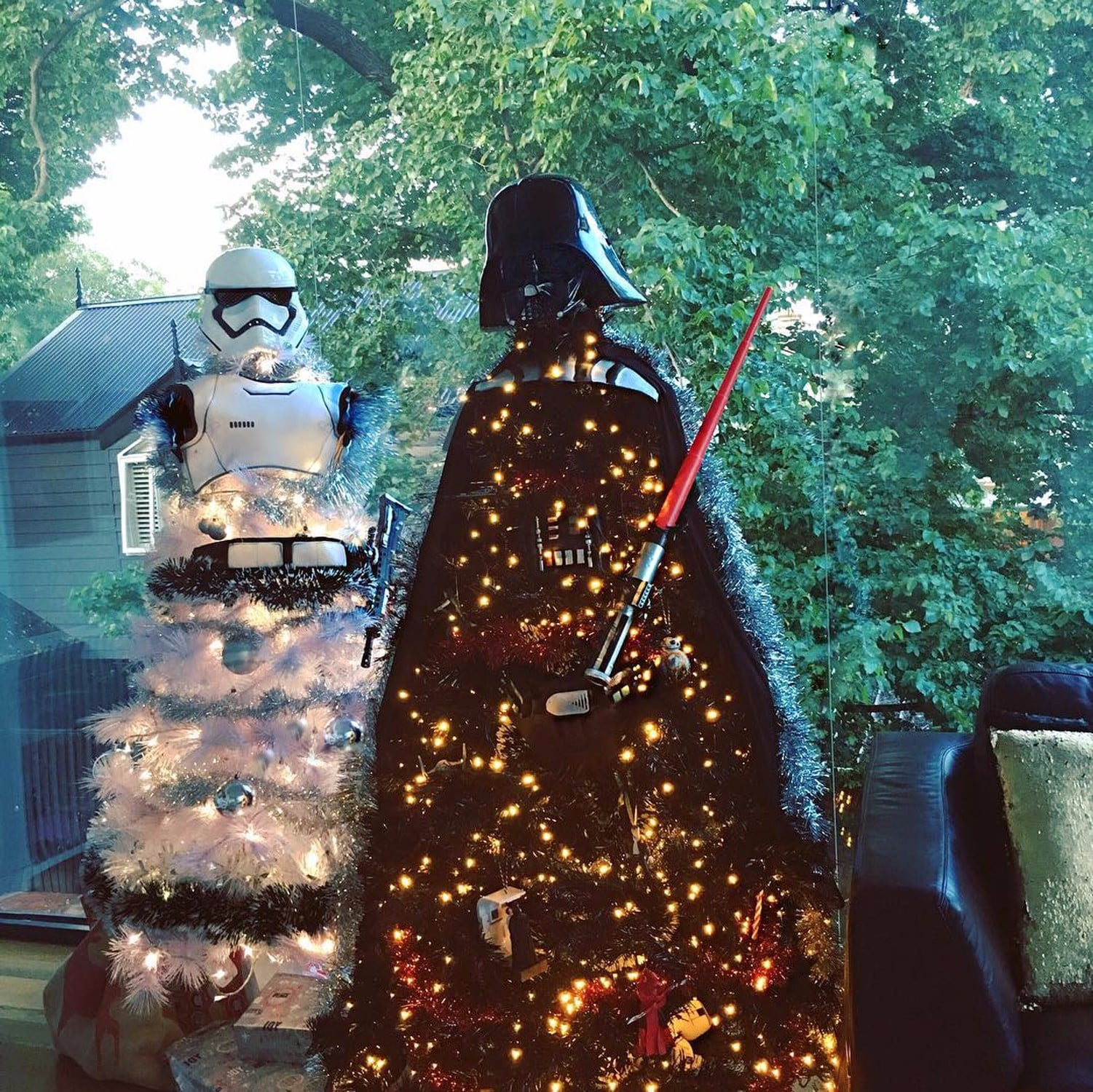 star wars christmas trees popsugar celebrity australia - Star Wars Christmas Decorations