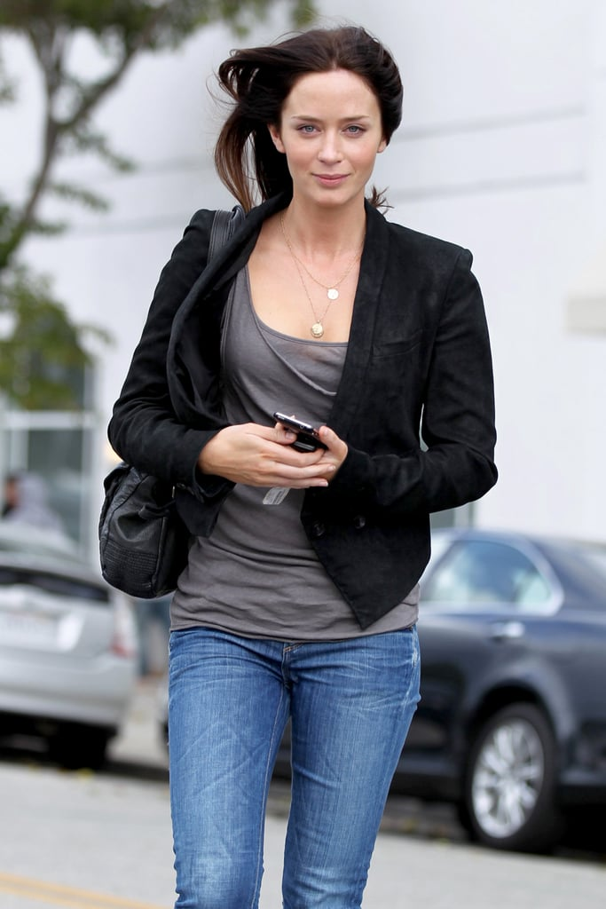 Photos of Emily Blunt Looking Windswept in Los Angeles